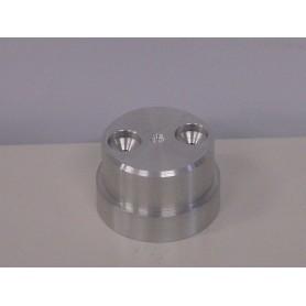 Base en aluminium pour mât de traîne